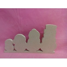 12mm MDF Snowman family
